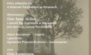 Zaproszenie na występ Chórów Spes in Deo oraz Chór Konsonans 26.08.2019
